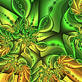 Fractal Gold And Green Together by Gabiw Art