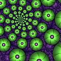Fractal Green Shapes by Gabiw Art