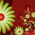 Fractal Happy Flowers 2 by Gabiw Art