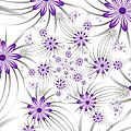 Fractal Purple Flowers by Gabiw Art