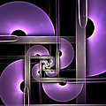 Fractal Purple Semicircles by Gabiw Art