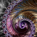 Fractal Spiral 2 - A Fractal Abstract by Ann Garrett