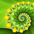 Fractal Sweet Yellow Fruits by Gabiw Art
