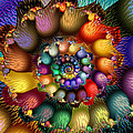 Fractal Textured Spiral by Peggi Wolfe