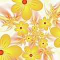 Fractal Yellow Flowers by Gabiw Art