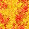 Fractalia For Red And Yellow Colors V by Gert J Rheeders