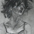 Gathering Strength - Original Charcoal Drawing - Contemporary Impressionist Art by Quin Sweetman