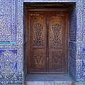 Framed Door In Kheiva by Mamoun Sakkal