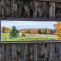 Framed-autumn In Vermont by John Vose