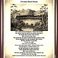 Framed Vintage 23rd Psalm Sepia by Barbara Griffin
