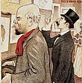 France Paris poster of Paul Verlaine and Jean Moreas by Anonymous