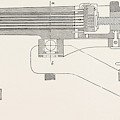 Franco-prussian War The Gun, Perpendicular Section by French School