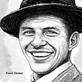 Frank Sinatra Art Drawing Sketch Portrait by Kim Wang