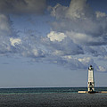 Frankfort Lighthouse On Lake Michigan by Randall Nyhof