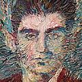 Franz Kafka Oil Portrait by Fabrizio Cassetta