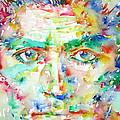 Franz Kafka Watercolor Portrait by Fabrizio Cassetta