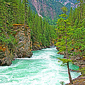 Fraser River Beyond Overlander Falls Along Yellowhead Highway-bc by Ruth Hager
