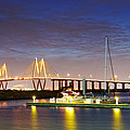 Fred Hartman Bridge From Bayland Marina - Houston Texas by Silvio Ligutti