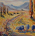 Free State Landscape With Guinea Fowl by Thomas Bertram POOLE