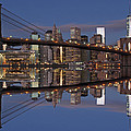 Freedom Tower And Brooklyn Bridge by Juergen Roth