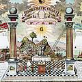Freemason Emblematic Chart by Granger