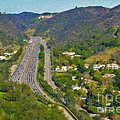Freeway Sepulveda Pass Traffic Bel Air Crest California by David Zanzinger