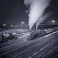 Freight Train About To Leave The Atchison Circa 1943 by Aged Pixel