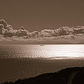 Freighter And The Catalina Channel by Joe Schofield