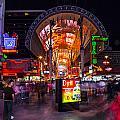 Fremont Street Lights 3 by Angus Hooper Iii