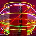 Fremont Street Neon Sphere by Angus Hooper Iii