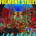 Fremont Street Poster Work C by David Lee Thompson
