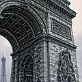 French - Arc De Triomphe And Eiffel Tower II by Lee Dos Santos
