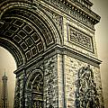 French - Arc De Triomphe And Eiffel Tower by Lee Dos Santos