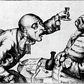 French 18th Century Engraving Of Two Alcoholics by National Library Of Medicine/science Photo Library