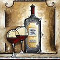 French Bordeaux Original Madart Painting by Megan Duncanson