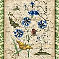French Botanical Damask-b by Jean Plout