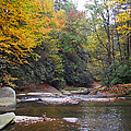 French Broad River In Fall by Duane McCullough