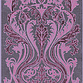 French Brocade Fleur De Lis. Mauve And Burgundy.  by Pierpont Bay Archives