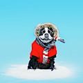 French Bull Terrier Wearing Jacket by Daniel Ehrenworth