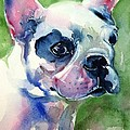 French Bulldog Painting by Maria's Watercolor
