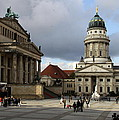 French Cathedral And Concert Hall - Berlin  by Christiane Schulze Art And Photography
