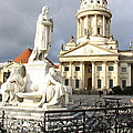 French Cathedral And Statue Gendarmenmarkt Germany by Christiane Schulze Art And Photography