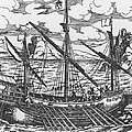 French Galley Operating In The Ports Of The Levant Since Louis Xi  by French School