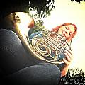 French Horn Below by Allicat Photography