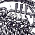 French Horn Rotors Classic Photograph In Sepia 3438.01 by M K Miller