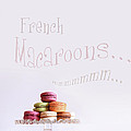French Macaroons On Dessert Tray by Sandra Cunningham