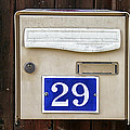 French Mailbox Number 29 by Georgia Fowler