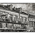 French Market View In Black And White by Brenda Bryant