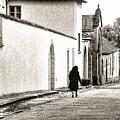 French Nun Walking Home by Menega Sabidussi