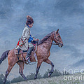 French Officer On Horse Grand Encampment  by Randy Steele